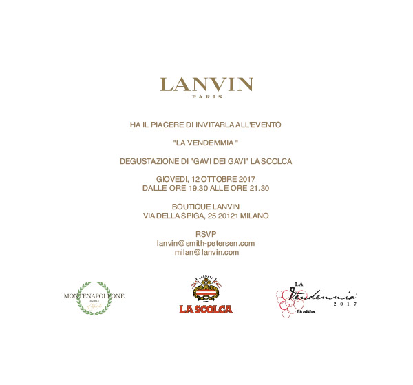 LANVIN Paris - La Scolca