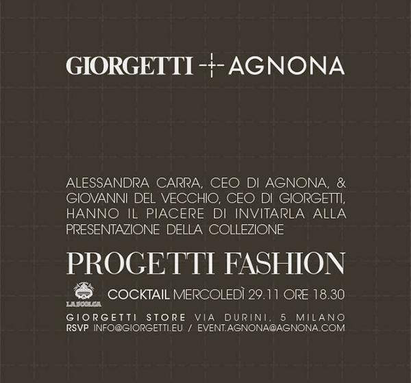 Giorgetti + Agnona - Progetti Fashion